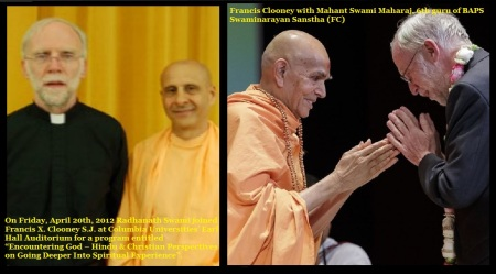 Clooney, Hindu-christian dialogue-with Hindu ISKCON and Swaminarayan Swamis