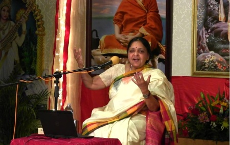 Vasudha speaks in India