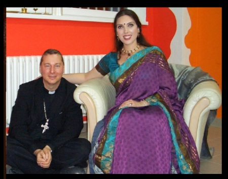 Sarah Stephanie Landry - with catholic bishop Ralph